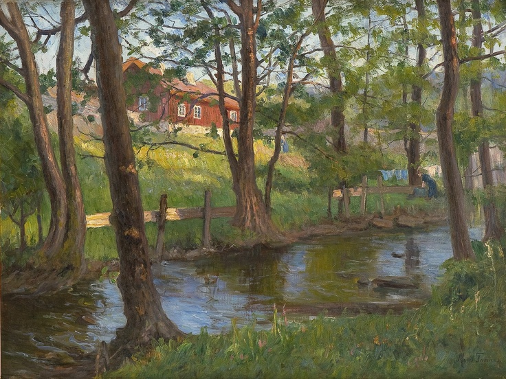 Marie Tannæs (1854-1939): Washing clothes