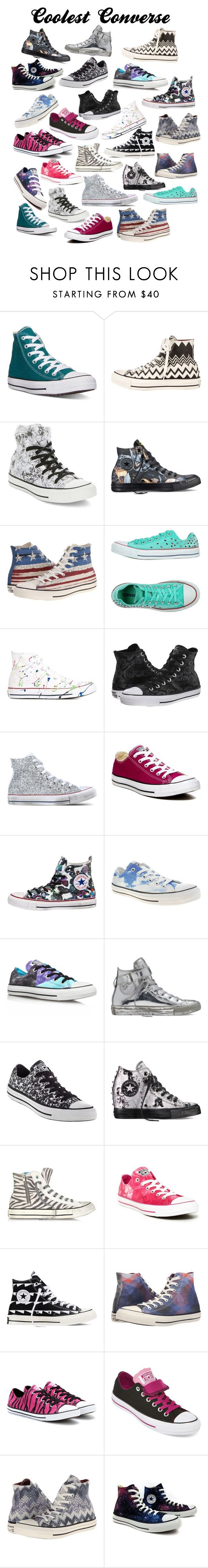 Coolest Converse by kaytaydel27 ❤ liked on Polyvore featuring Converse