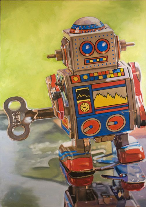 Mini Robot  Now available as a fine art print on paper or canvas. Visit my…