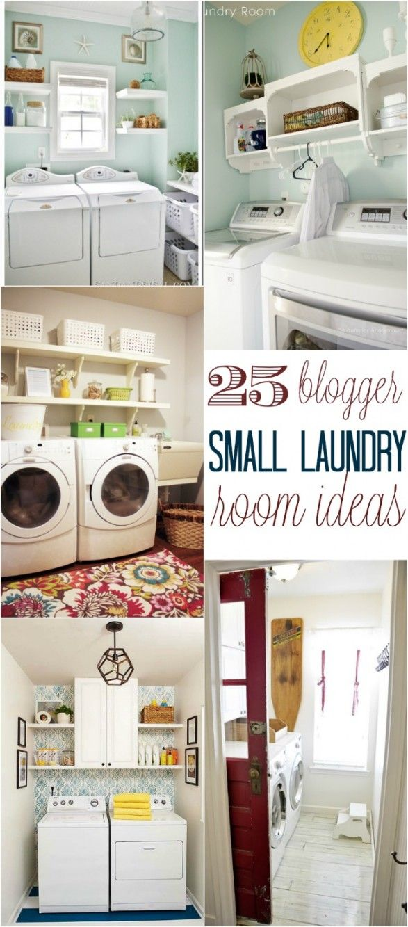 The laundry room is often an overlooked and overworked room in the home. It needs to be functional of course, but what about beautiful? Whether you have a small laundry closet or tiny laundry room, your laundry area can be both functional and beautiful! Below are a collection of 25 Small Laundry Room Ideas by bloggers. Let's face it, laund
