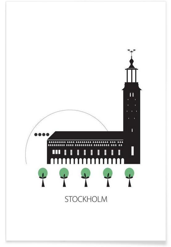 Stockholm as Premium Poster by Forma Nova | JUNIQE
