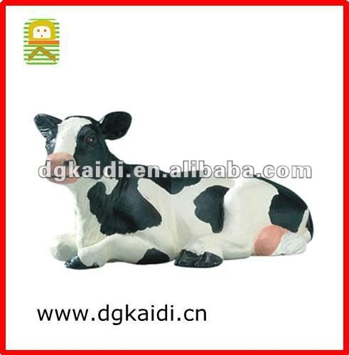 Plastic Farm Animal Lying Down Holstein Cow Toy - Buy Holstein Cow ...
