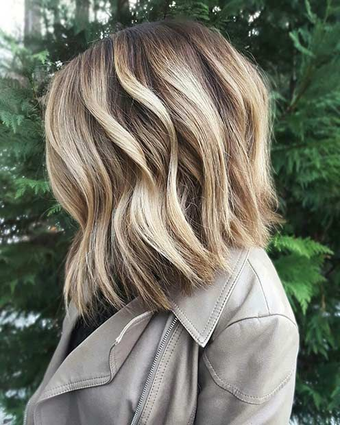 Textured Blonde Bob Haircut