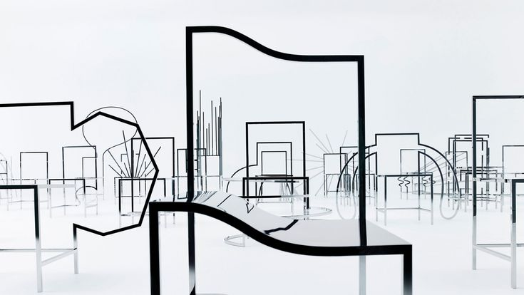 """A unique installation that spans the fields of art, furniture and graphic design, """"50 Manga Chairs"""" is the creation of Japanese design studio Nendo, in collaboration with New York gallery Friedman Benda, which has made its debut in this year's Milan design week at the Basilica Minore di San Simpliciano."""