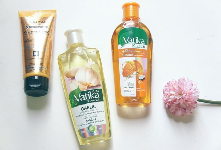 Some new hair products. I have heard alot about vatika hair oils so lets see how they works for me.I have used them twice and all i can say is the scent is super strong and they soften my hair. The loreal oil in cream is good , i like it , its not oily and does not weigh down the hair.  .  .  .  #bblogger #beauty #hairoil #oil #beautyblogger