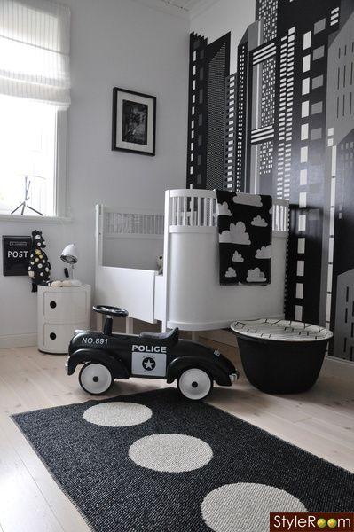 Style.: Idea, Black And White, White Nursery, Kidsroom, Black White, Baby Room, Baby Boy, Kids Rooms