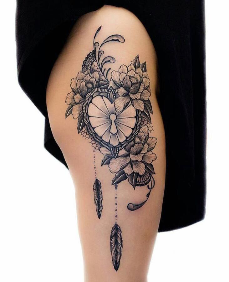 25 Beautiful Thigh Quote Tattoos Ideas On Pinterest: Best 25+ Feminine Thigh Tattoos Ideas On Pinterest