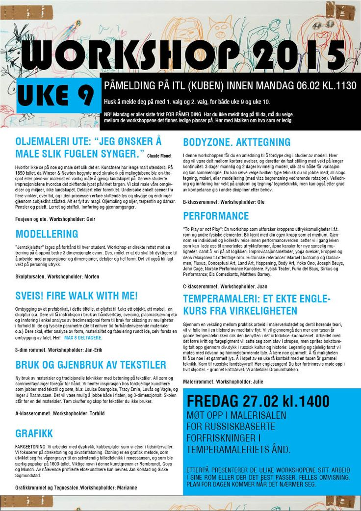 WORKSHOP 2015 UKE 9
