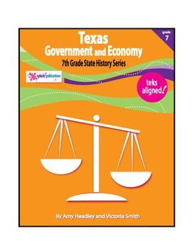 Texas 7th Grade Government and Economy is a TEKS-aligned content-based unit with 7 COMPLETE lessons.  (If you've purchased from Splash! Publications before, then you know that all of our materials include all content and require absolutely NO PREP.  Simply open, print, and TEACH!)