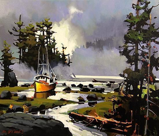 Beached near Port Edward by Michael O'Toole (Canadian)
