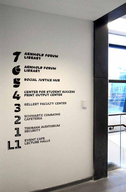Actualité / Une nouvelle signalétique pour la New School / étapes: design & culture visuelle