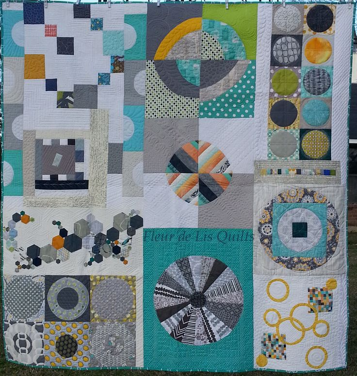 Finished!  My Louisiana Traveling Quilt is quilted and bound and beautiful!  Close-ups of the individual blocks on my blog.  I love, love this quilt!  Thank you everyone! #LouisianaTravelingQuilt #MaryMarcotteTravelingQuilt