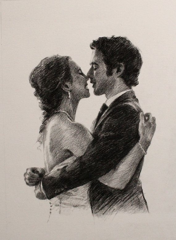 paper anniversary gift for him personalized charcoal by OliFineArt