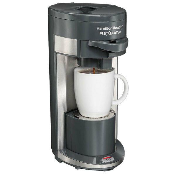 Hamilton Beach Flexbrew 49995 1 Cup Coffee And Espresso Maker Black 736283493368 Ebay Coffee Maker Machine Single Cup Coffee Maker Single Serve Coffee Makers