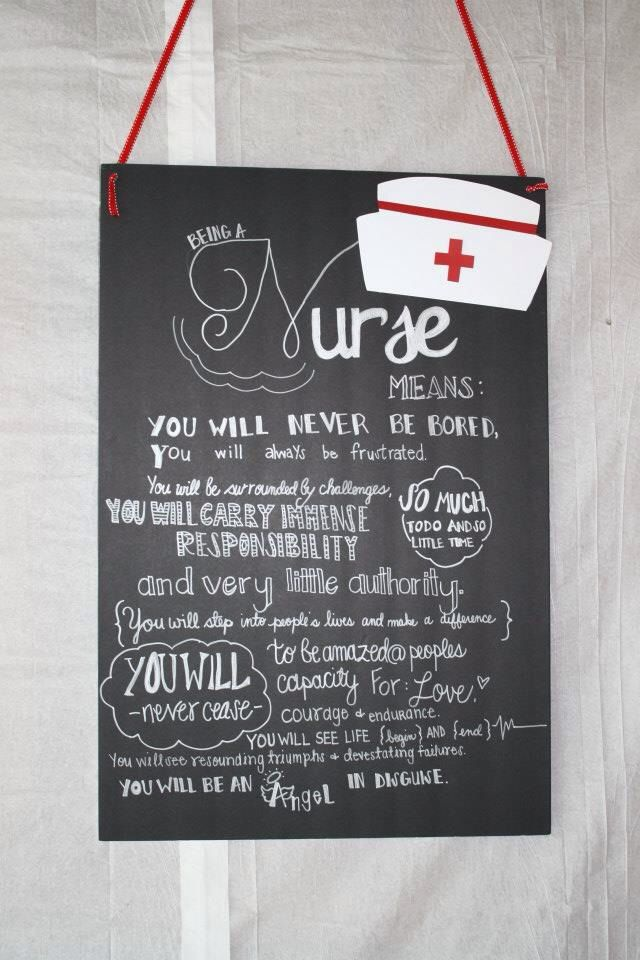 Nursing Themed Party Decorations Wall Decor Made With Black Foam Core From The Dollar