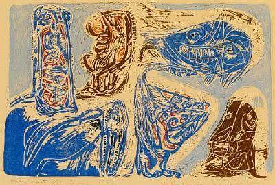 muete mythe, Opus II por Asger Jorn