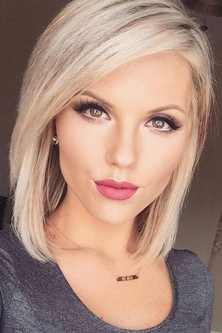 Medium Leght Blonde, Pink, Lips, Medium, Locks