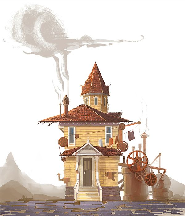 Post apocalyptic house development (steampunk) on Behance