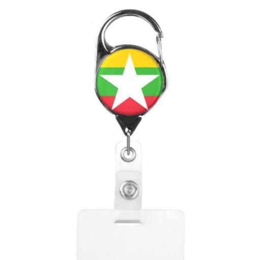 Flag of Myanmar Badge Holder