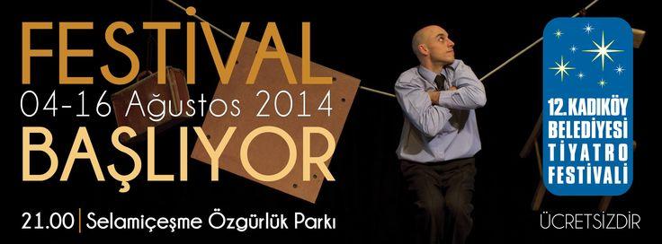 12. Kadıköy Belediyesi Tiyatro Festivali 4 Ağustos'ta Selamiçeşme Özgürlük Parkı Açık Hava Tiyatrosu'nda başlıyor..