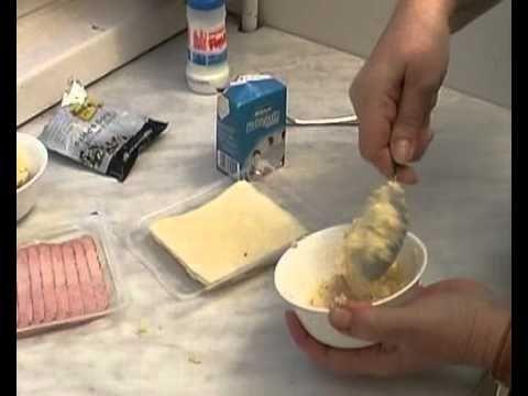 Sonka- és sajttekercs készítés egyszerűen