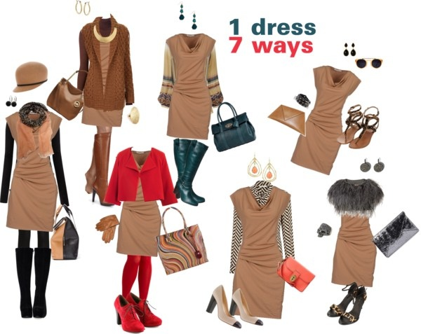 """""""1 Dress, 7 Ways"""" by dana-peterson-forlano on Polyvore"""