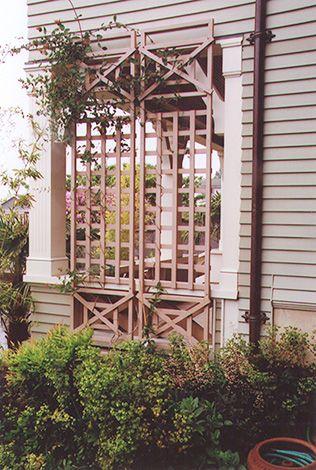 Custom Trellis For Back Porch Privacy My Landscape