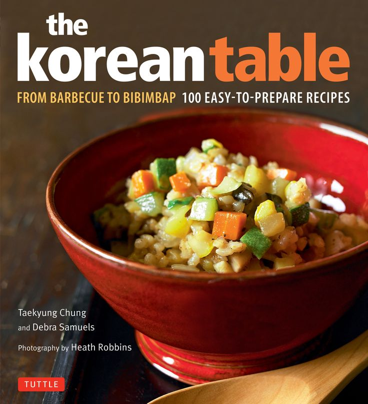 The Korean Table is a wonderful new cookbook that shows American cooks how to create the tempting flavors of Korean cuisine at home. Chung and Samuels, a Korean and an American, team up to guide home cooks through the process of making Korean meals without fuss, multiple trips to specialty markets or expensive online shopping.