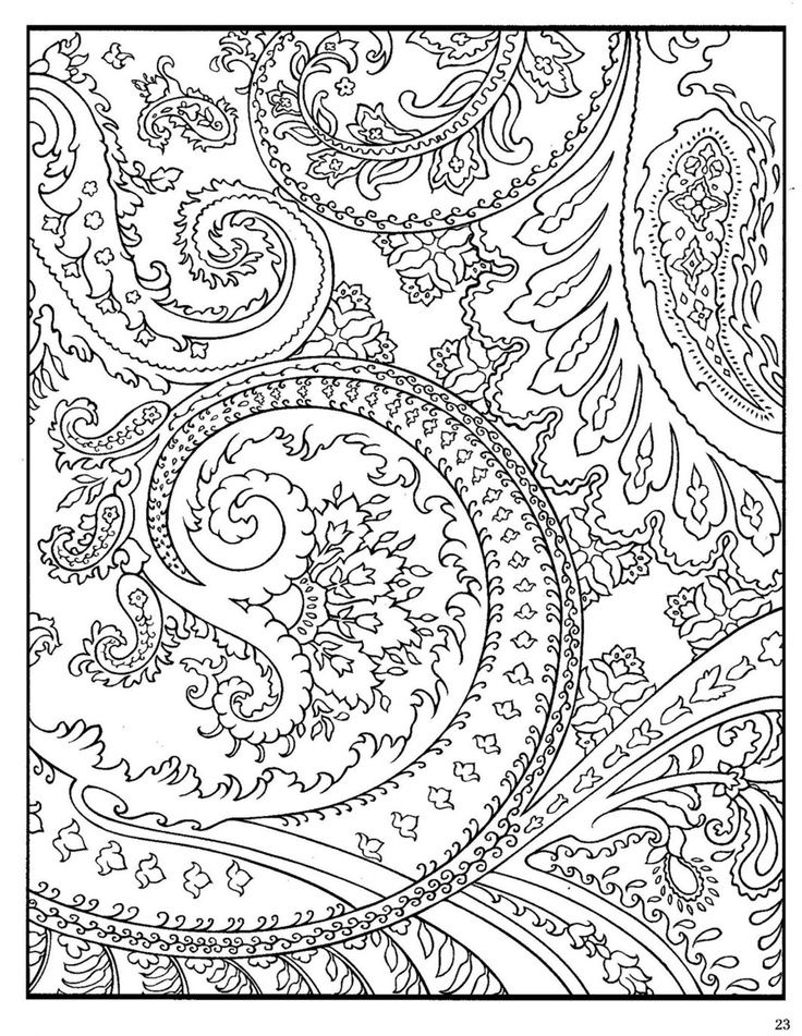free paisley adult coloring pages - photo#38