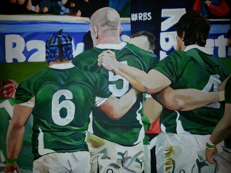 Rugby acrylic painting. www.ciarafaganart.com