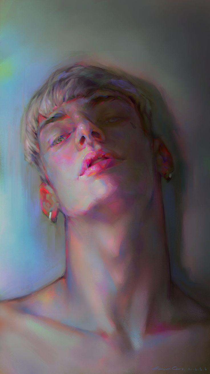 Powerful #portrait #art by Yanjun Cheng