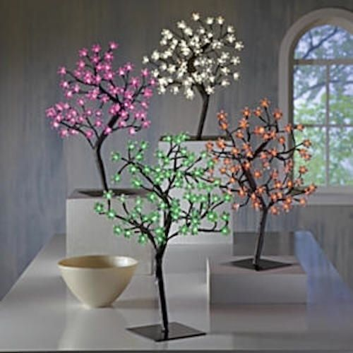 Details About Led Lighted Cherry Blossom Tree See