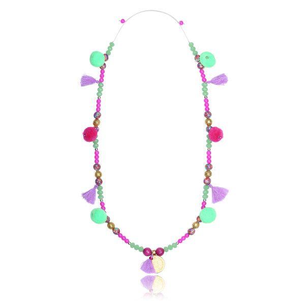 Maya disc boho necklace – full of joy
