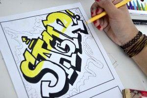 Name in Graffiti style   Arte a Scuola   Bloglovin'