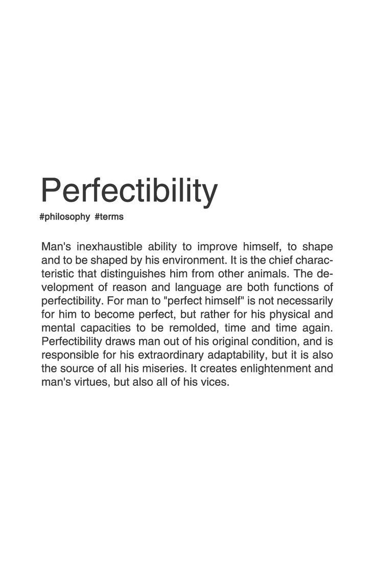 PERFECTIBILITY. #typography #philosophy #typographyposter
