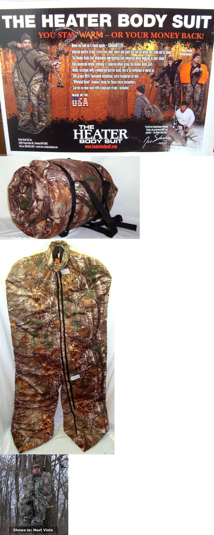 Other Hunting Clothing and Accs 159036: The Heater Body Suit - Medium - Realtree Camo BUY IT NOW ONLY: $359.95