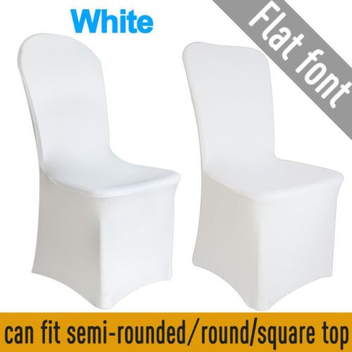 100PCS Spandex Stretch Chair Covers White for Wedding Party Banquet Decoration in Home & Garden, Wedding Supplies, Venue Decorations | eBay