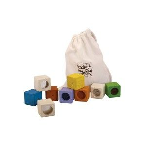 Drewniane klocki interaktywne - Plan Toys