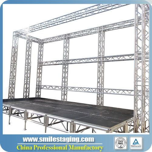 12ft x 40ft Aluminum Stage Systems With Lighting Truss