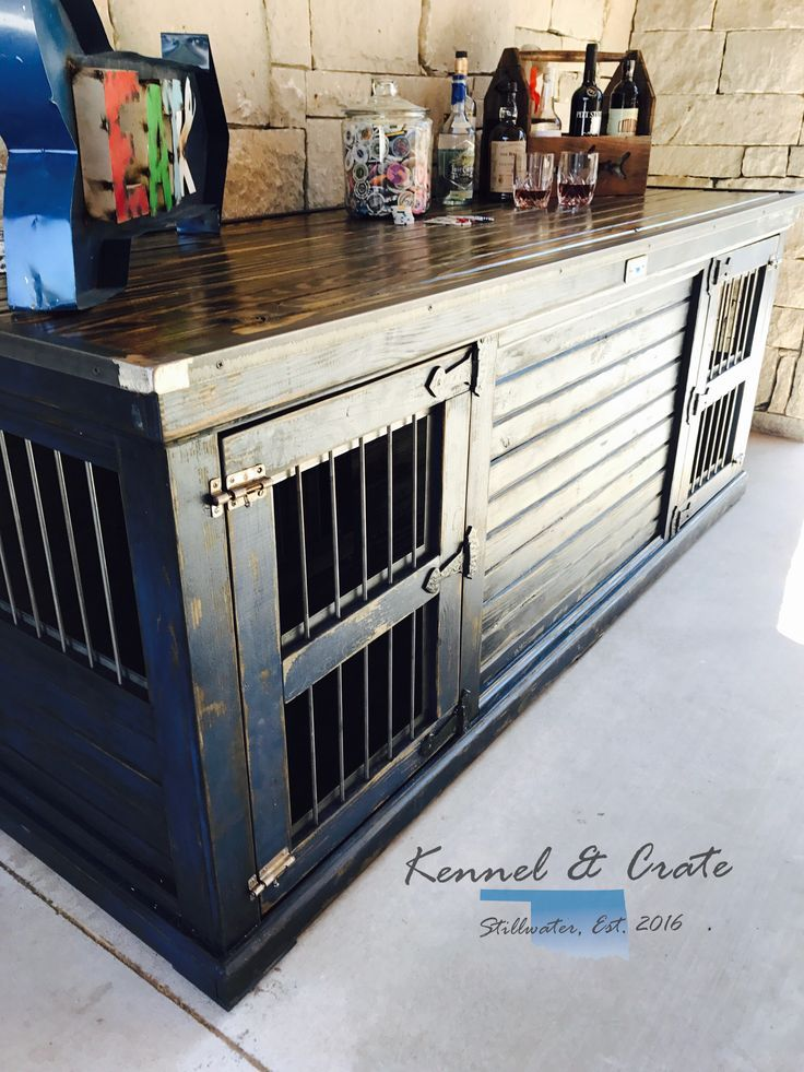 Farmhouse Style Indoor double dog kennel! Dress Blues Sherwin