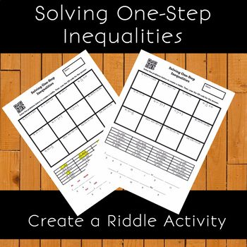 Solving One Step Inequalities No Negatives Create The Riddle