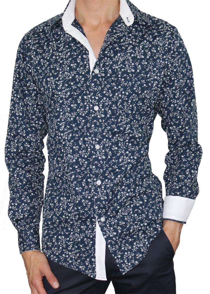 Camisa Casual Slim Luc Estampado Flores
