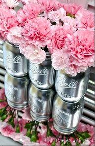 carnation centerpieces mason jars - Google Search