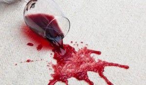 quitando mancha de vino tinto