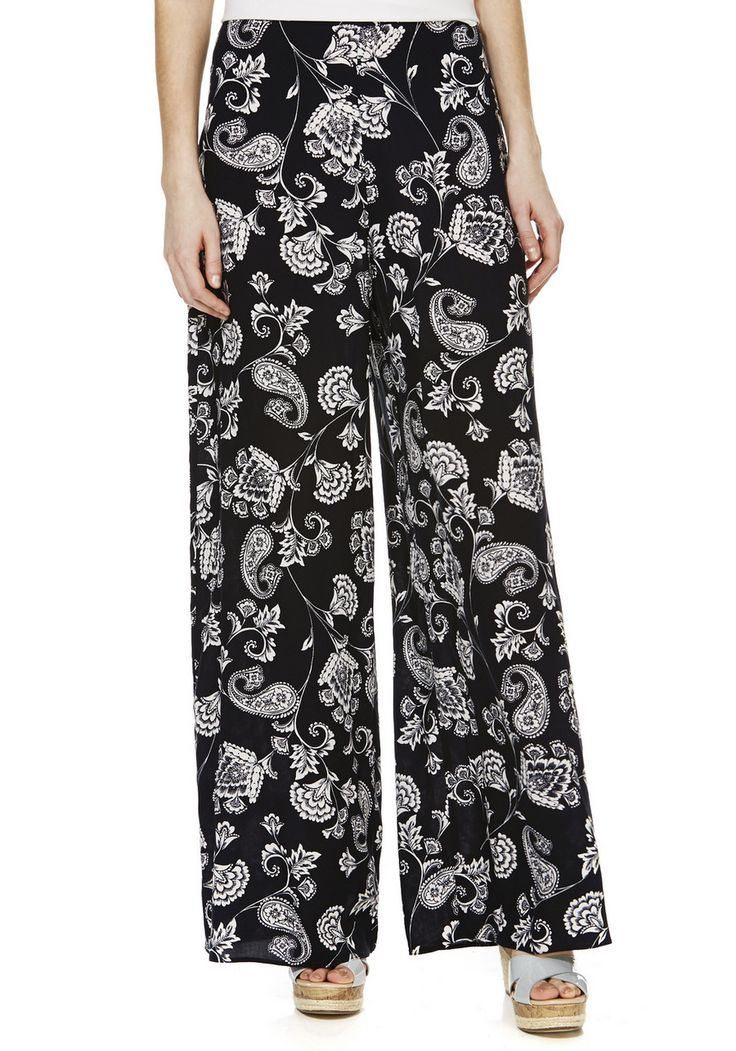 Don't miss out on one of summer's biggest trends, paisley | F&F Paisley Print Palazzo Pants | F&F Tesco clothing
