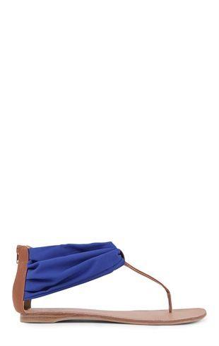 Deb Shops T-Strap #Sandal with Color Upper $15.00