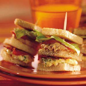 Recept - Mini-clubsandwiches met tonijn, chorizo en ei - Allerhande