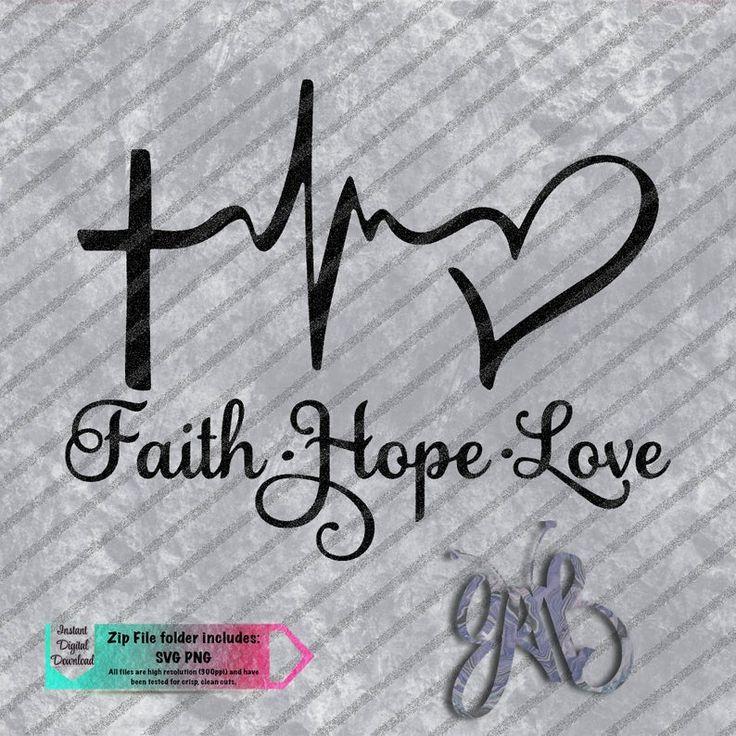 Download Faith Hope Love Cross EKG Heart custom design SVG PNG ...