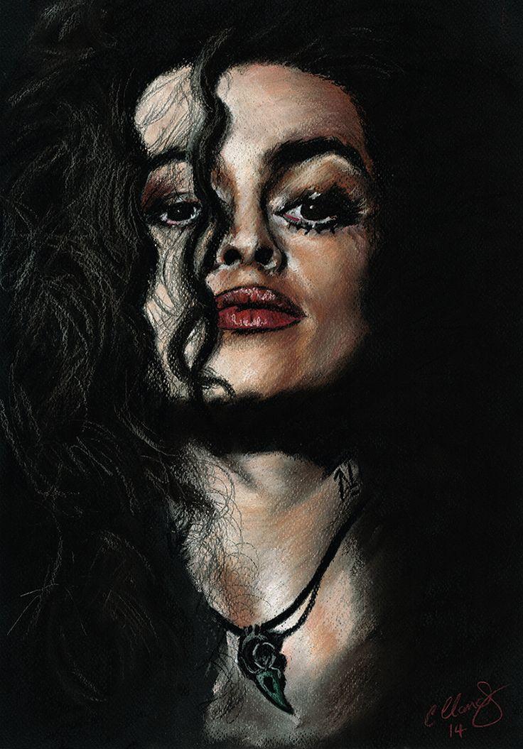 So completely unhinged and deliciously evil!  Bellatrix Lestrange - Original Pastel Artwork