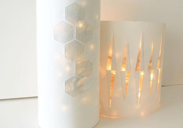Une petite lanterne pour recycler les décorations de Noël :)